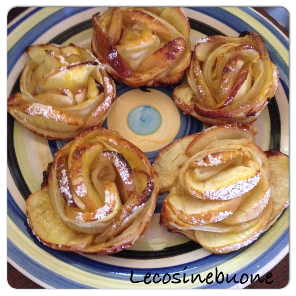 Roselline di pasta sfoglia con mele e marmellata (2/2)